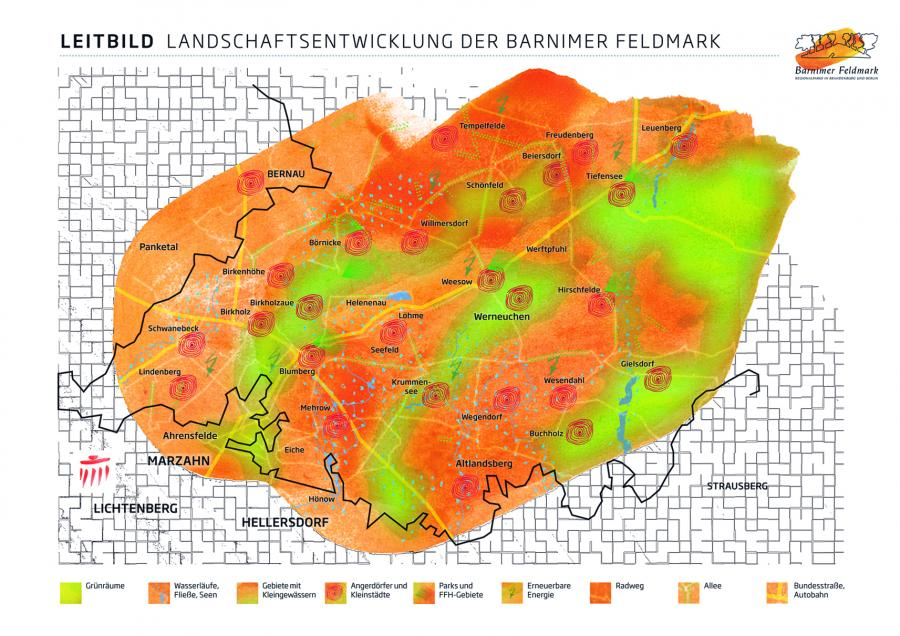 Karte aus dem Leitbild für die Barnimer Feldmark