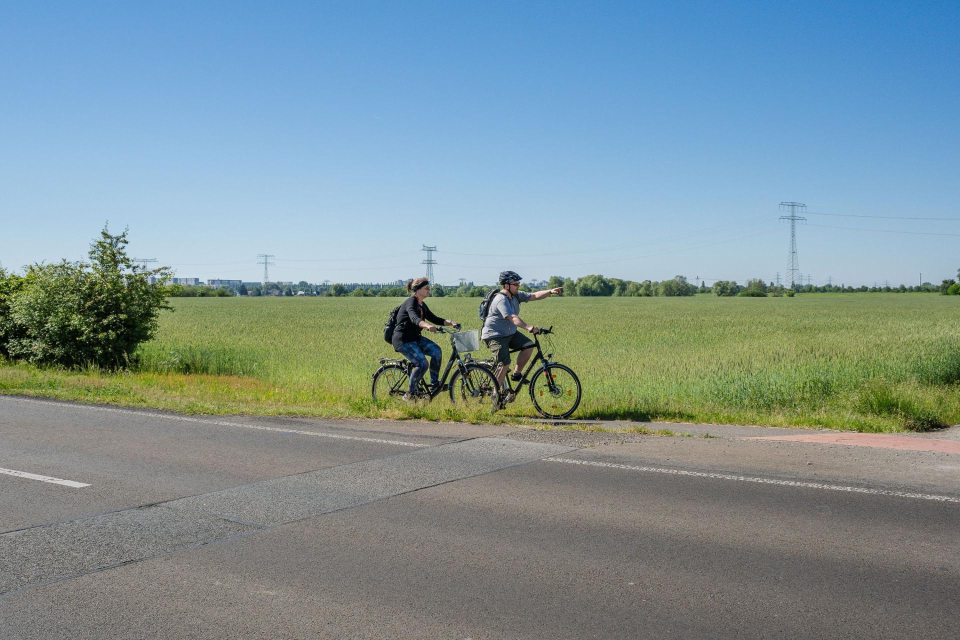 Radfahrer an der Ahrensfelder Strafe
