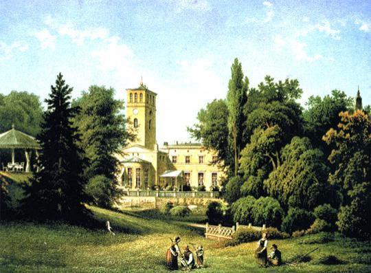 Pałac w Blumberg w 1860 r.