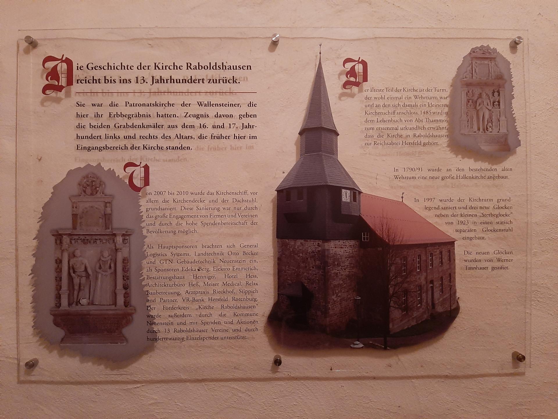 Info-Tafel Kirche