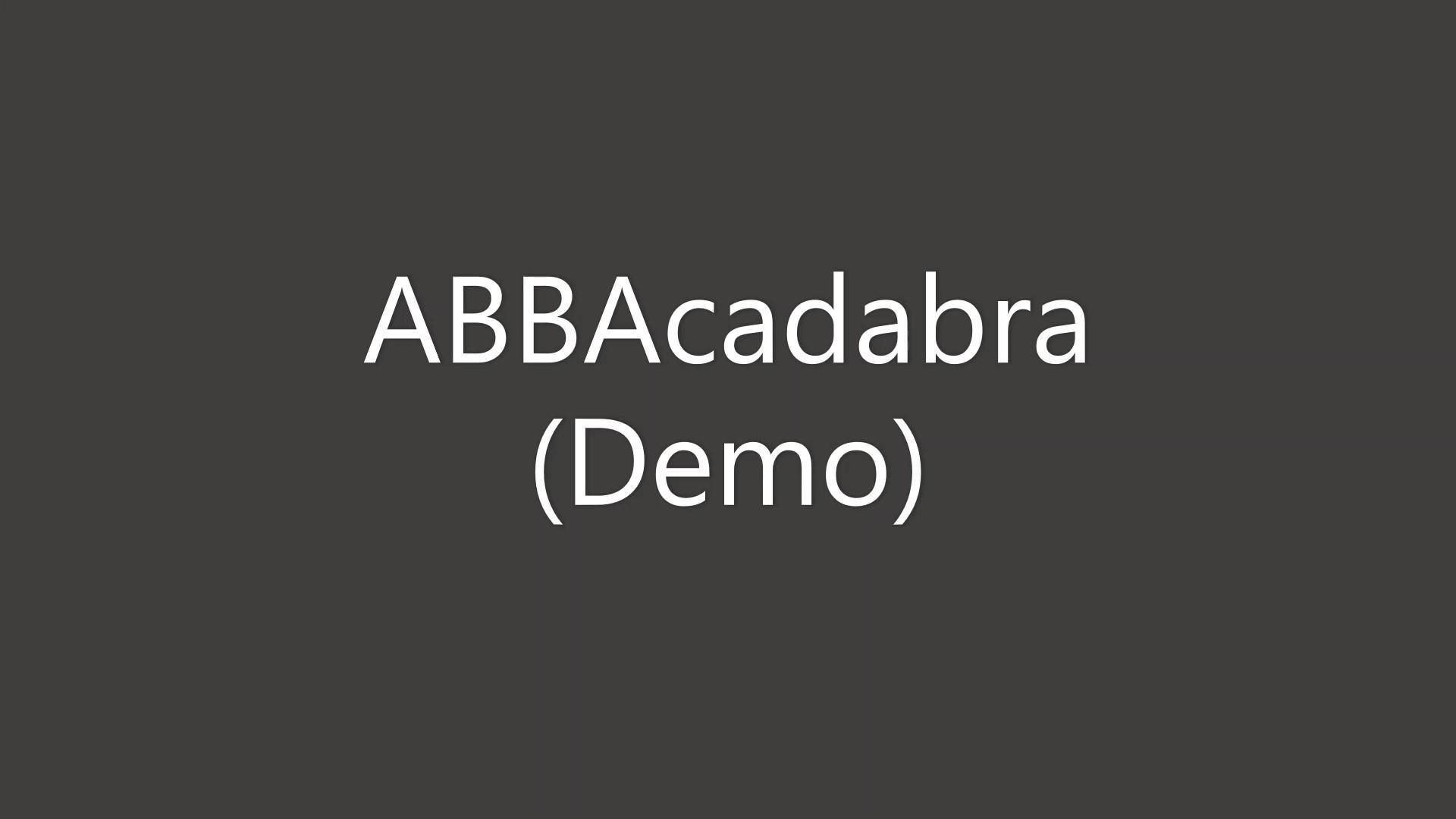 ABBAcadabra Demo