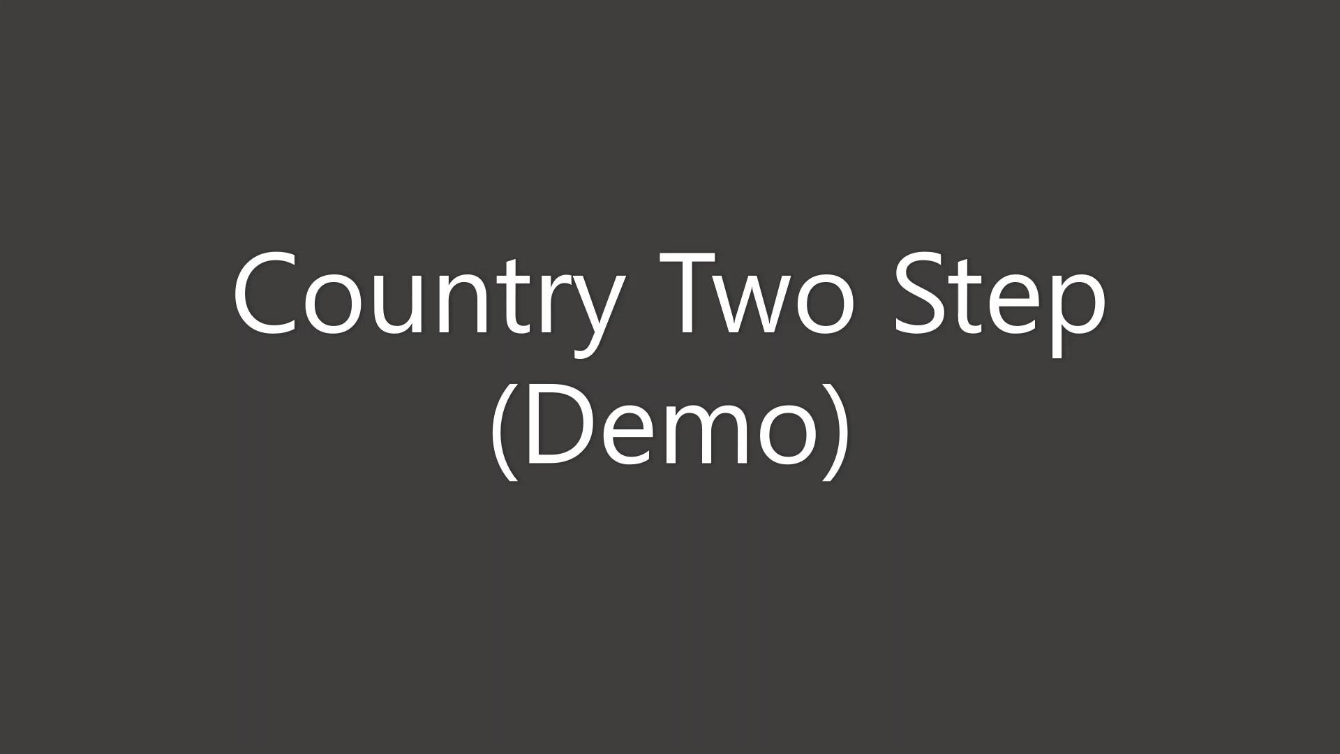Country Two Step Demo