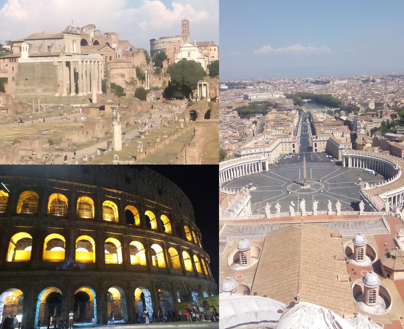 Collage Romreise