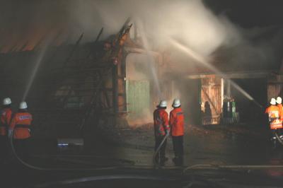 Scheunenbrand in Fischbeck