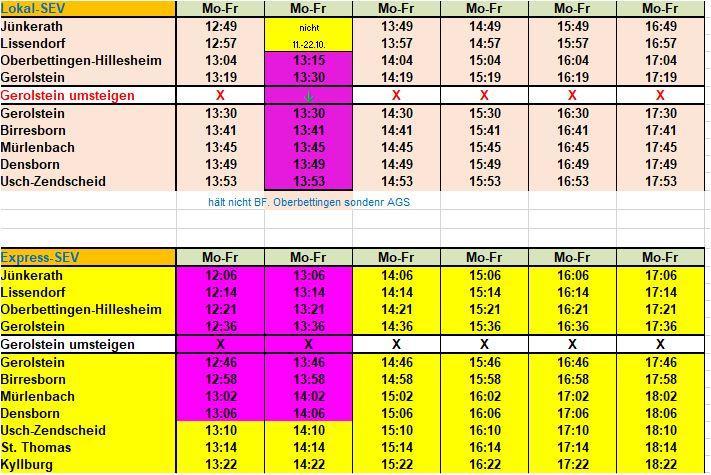 Fahrplanzusammenstellung für Graf Salentin Schule ab 04.10.