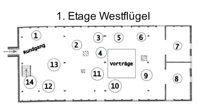 1. Etage Westflügel