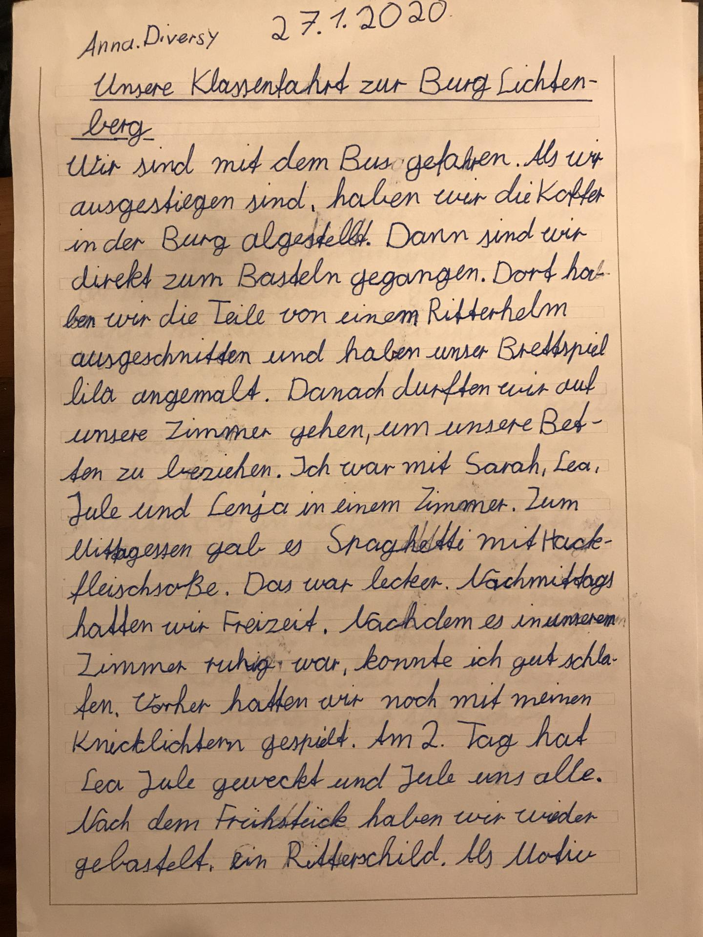 Bericht Anna Diversy 1