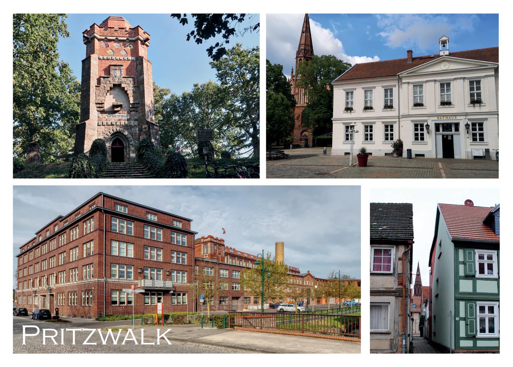 Bismarckturm, Rathaus, Tuchfabrik, Altstadt