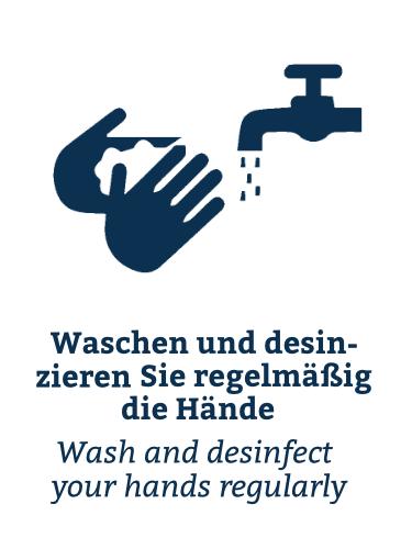 Waschen und desinfizieren!