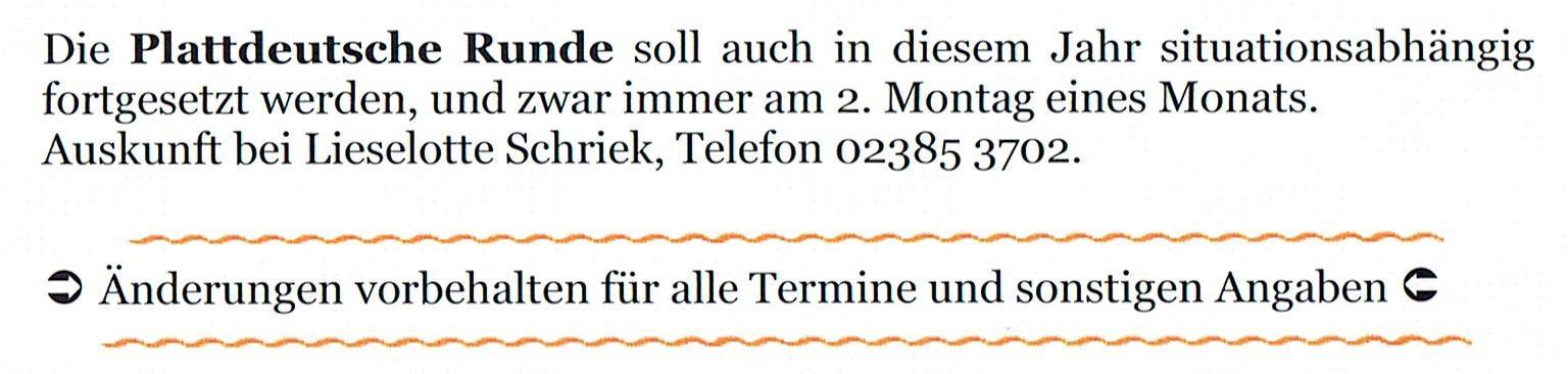 Plattdeutsche Runde
