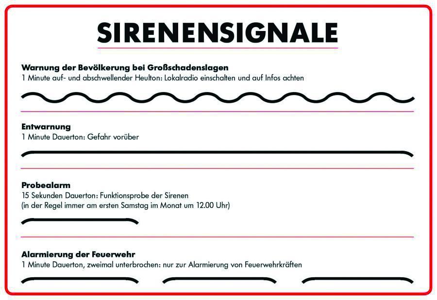 Sirenensignale