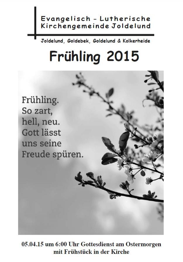 Gemeindebrief Frühling 2015