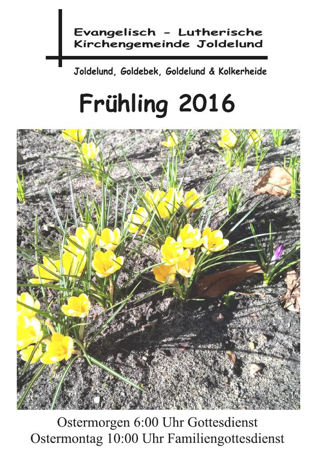 Gemeindebrief Frühling 2016