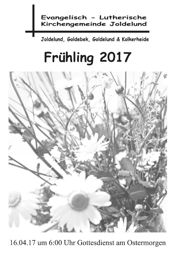 Gemeindebrief Frühling 2017