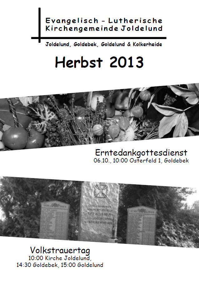 Gemeindebrief Herbst 2013