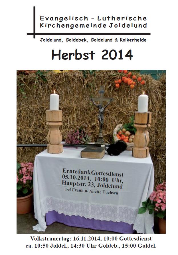 Gemeindebrief Herbst 2014