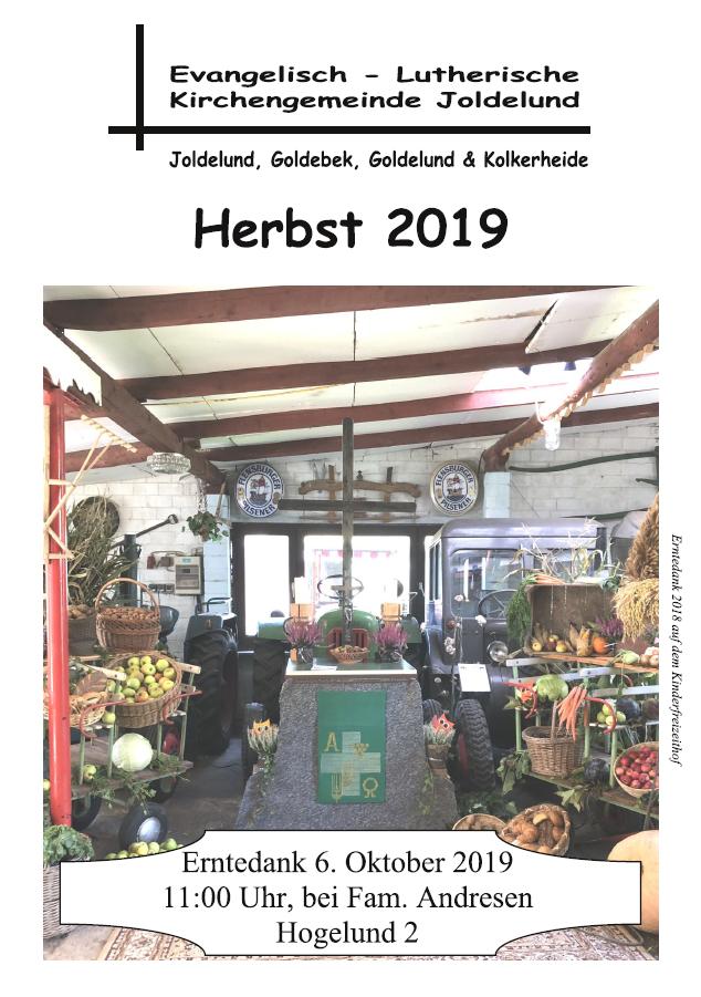 Gemeindebrief Herbst 2019