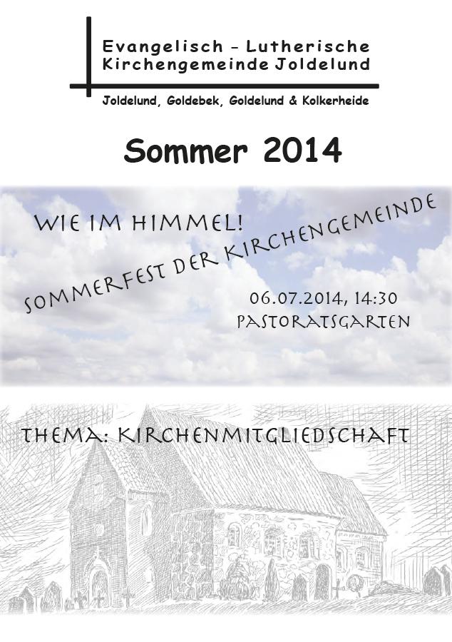 Gemeindebrief Sommer 2014