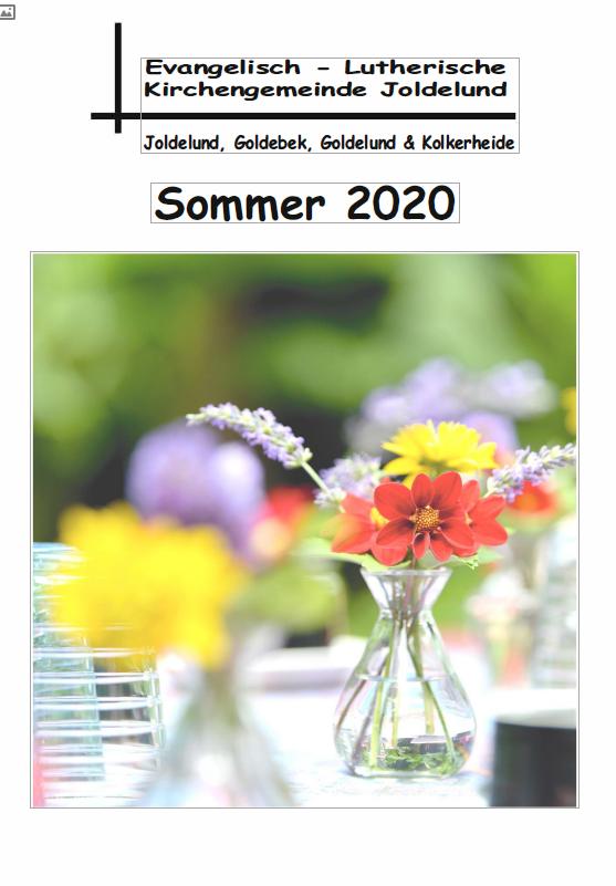 Gemeindebrief Sommer 2020