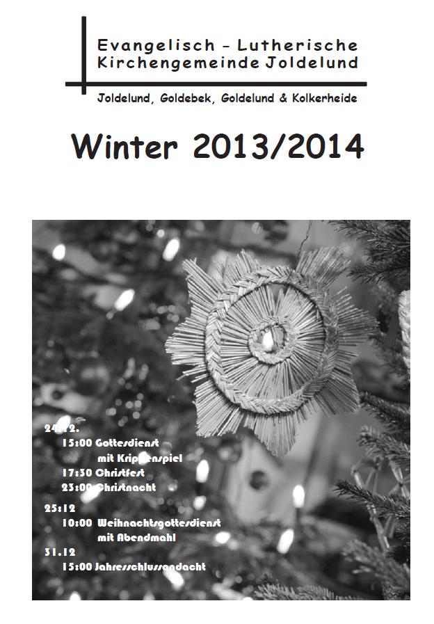 Gemeindebrief Winter 2013