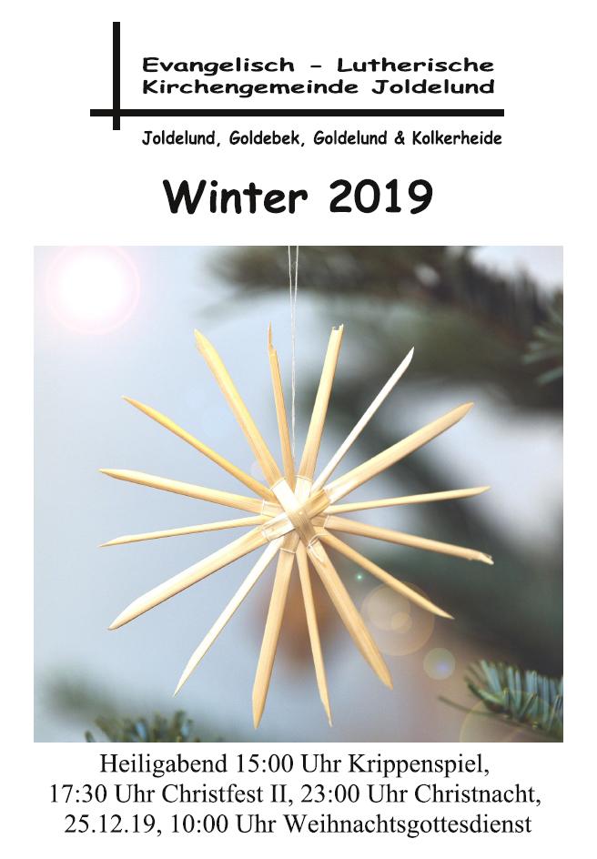 Gemeindebrief Winter 2019