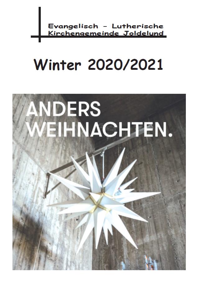 Gemeindebrief Winter 2020