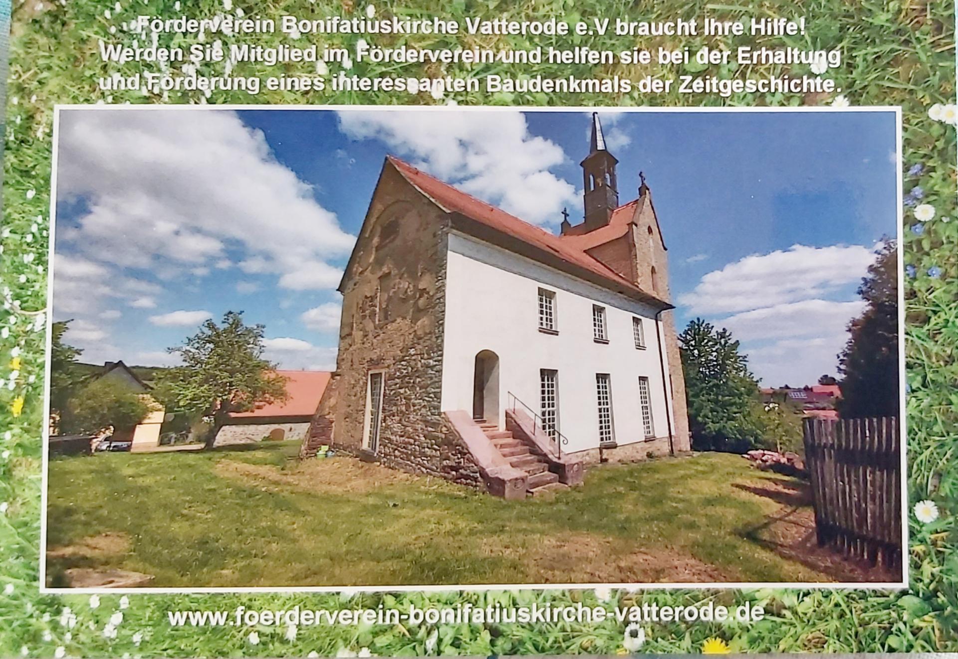 Spenden-Postkarte Bonifatiuskirche Vatterode