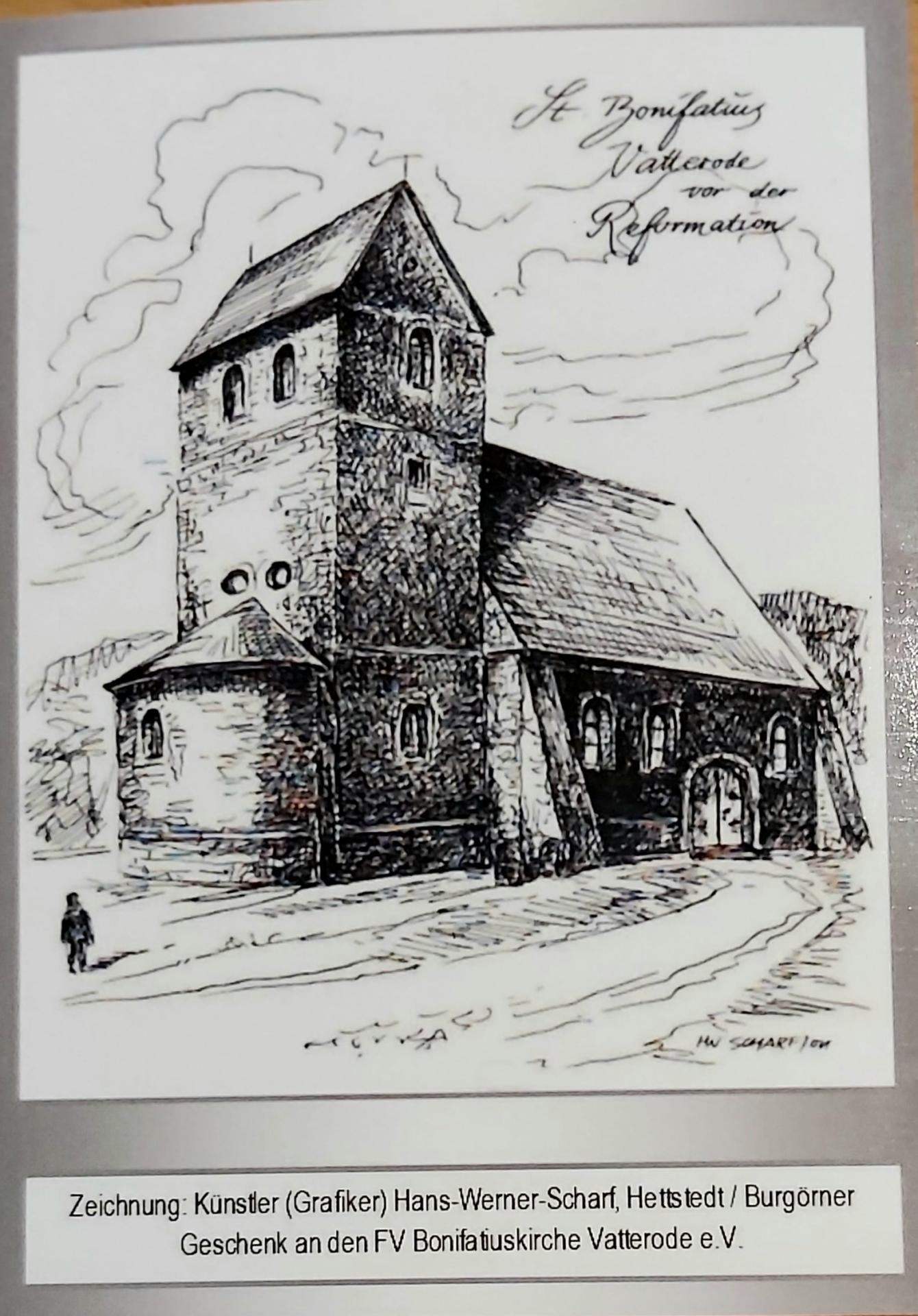 Spenden-Postkarte Bonifatiuskirche vor der Revormation