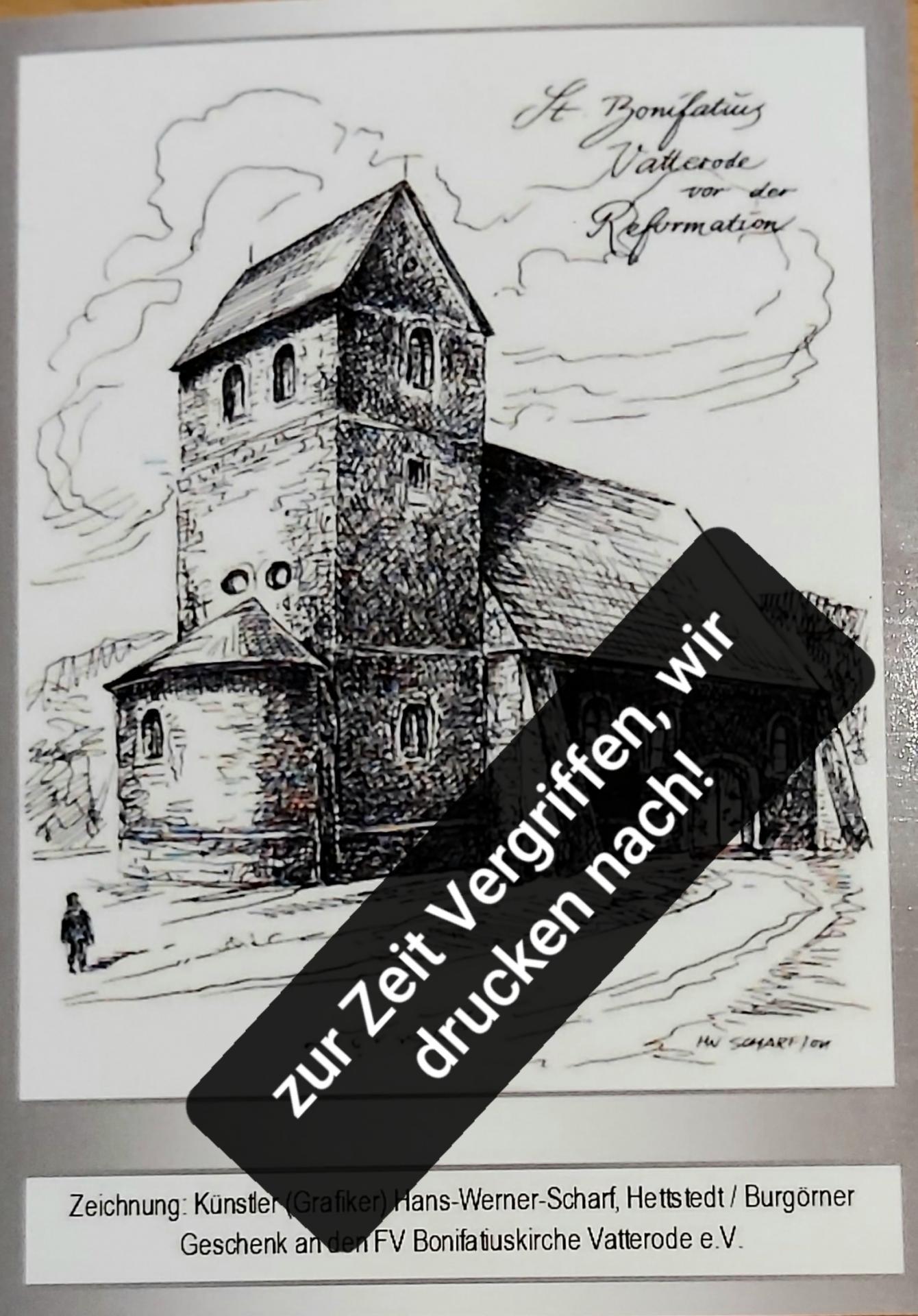 Postkarte-historisch weiß