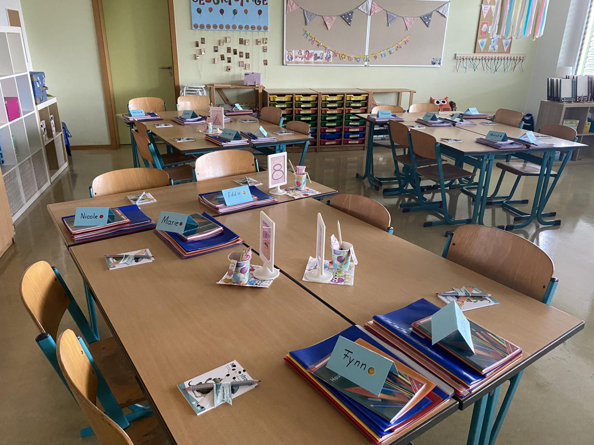 Klassenraum 3. Klasse