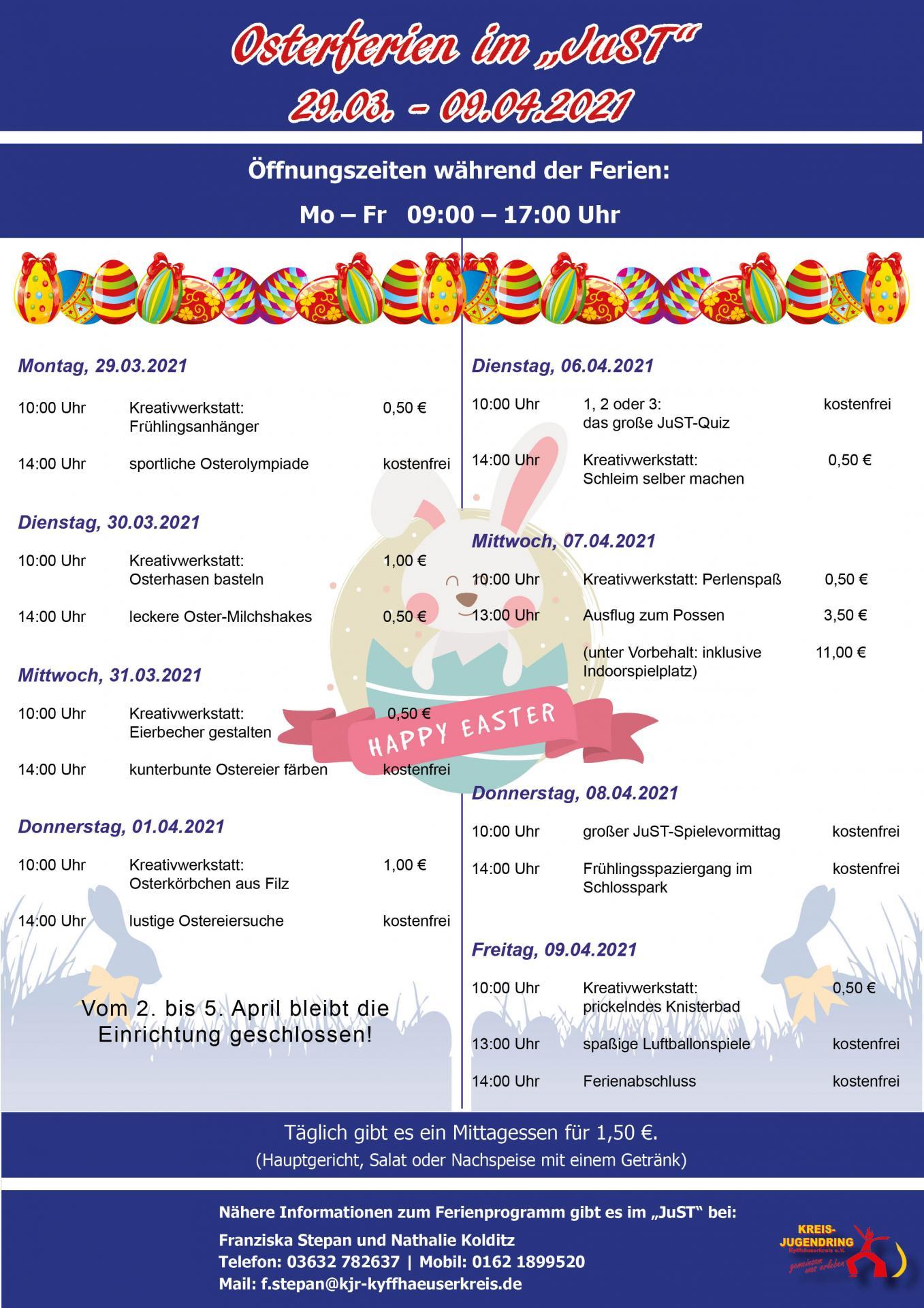 Osterferienprogramm JuST_2021