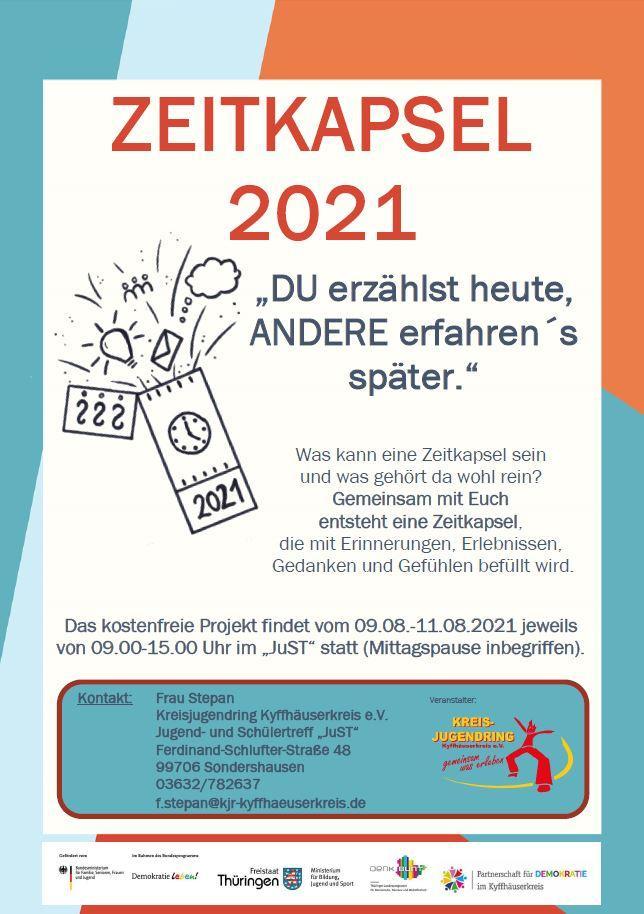 Zeitkapselprojekt im JuST Sondershausen