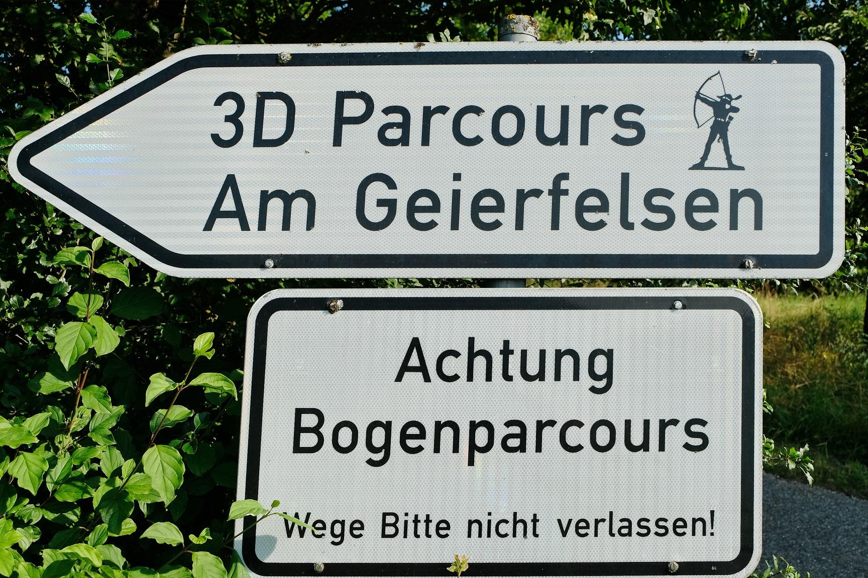 Bogenparcours am Geierfelsen - H. Meidenbauer