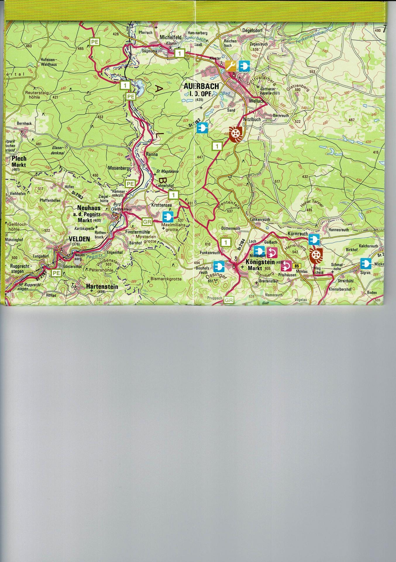 Radtour 1 - Karte Landkreis Amberg-Sulzbach