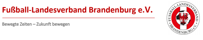 Banner Fußball Landesverband Brandenburg