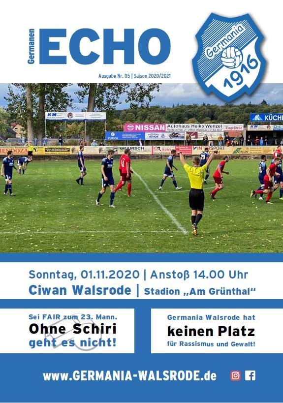 Ausgabe Nr.05 - SV Ciwan Walsrode 01.11.2020