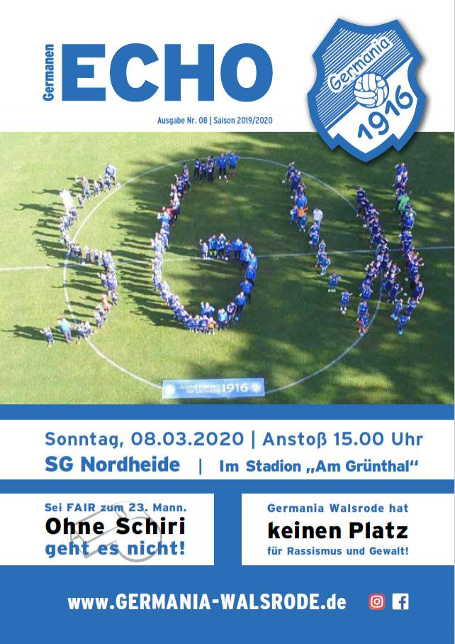 Germanen-Echo Nr.8 - SG Nordheide  08.03.2020