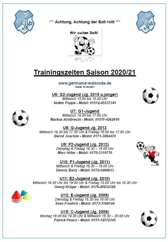 Training Mannschaften 20_21