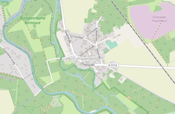 Ortsplan (Quelle: OpenStreetMap)