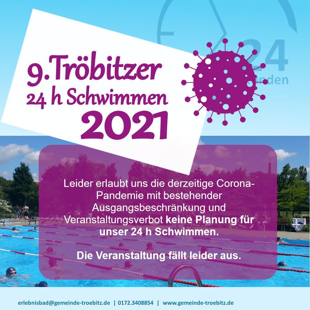 24 h Schwimmen 2021 abgesagt