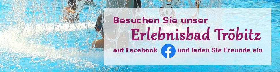 Banner mit Link zu Facebook Seite Erlebnisbad Tröbitz