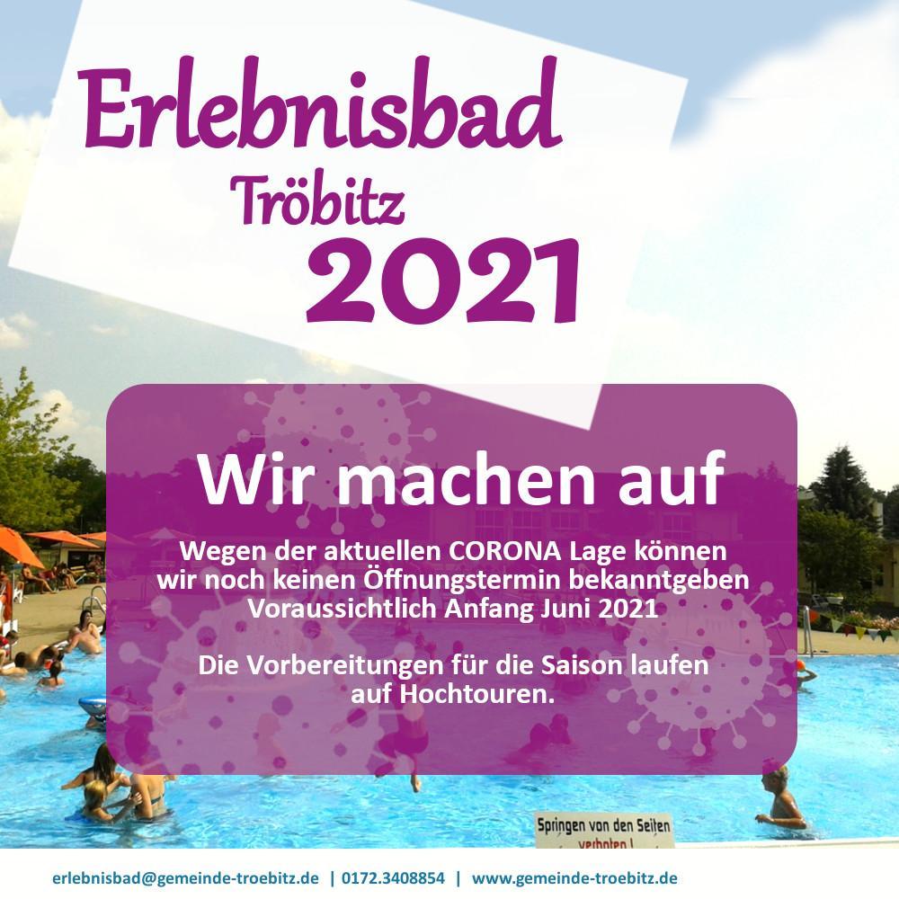 Freibad Tröbitz 2021 Öffnung