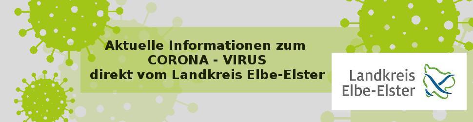 Corona Banner mit Link zum Landkreis Elbe-Elster