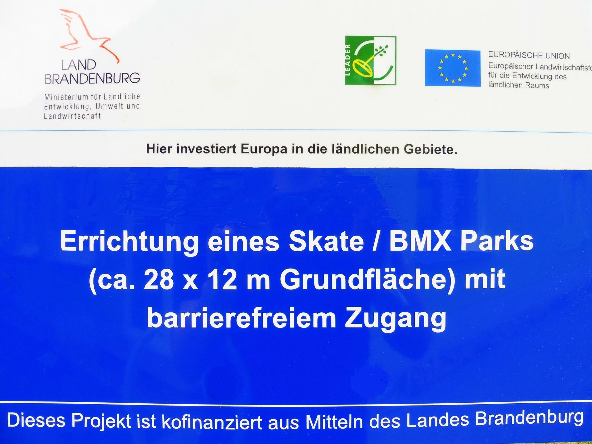 Förderschild Skatepark