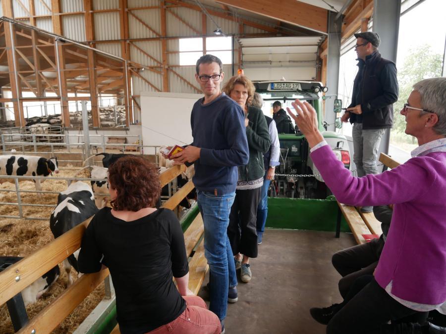 Benjamin Raschke in der Agrargenossenschaft Goßmar