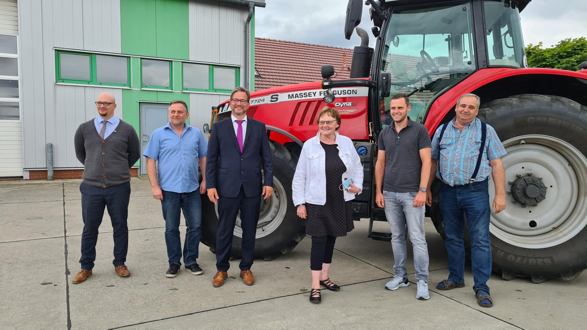 Sylvia Lehmann und Florian Pronold zu Gast in der Flora Agrar GmbH