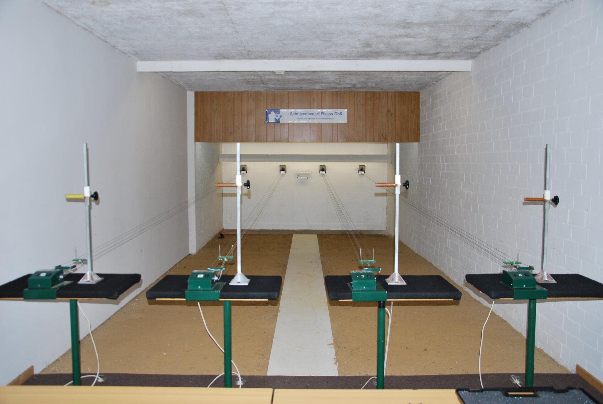 8 Luftgewehrstände 10 m