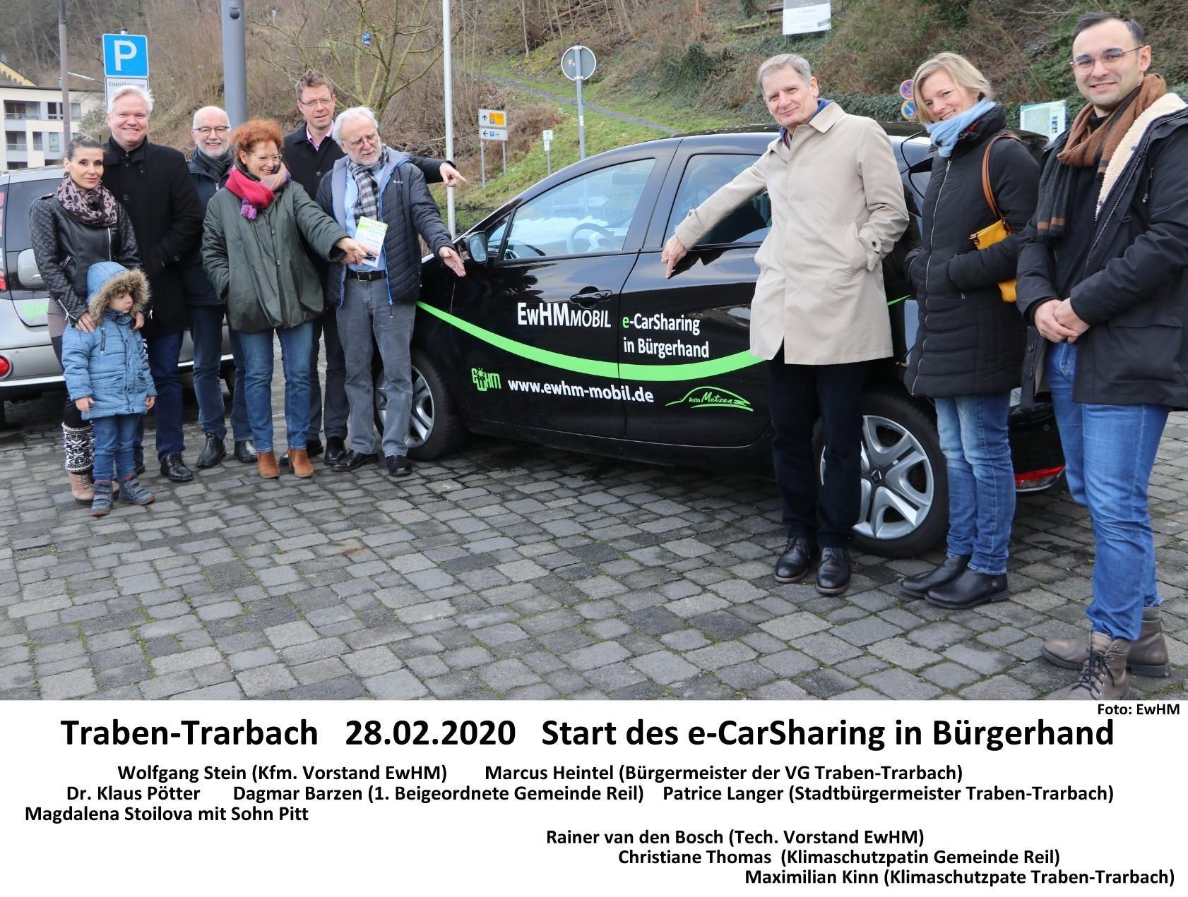 Start des e-CarSharing in Traben-Trarbach