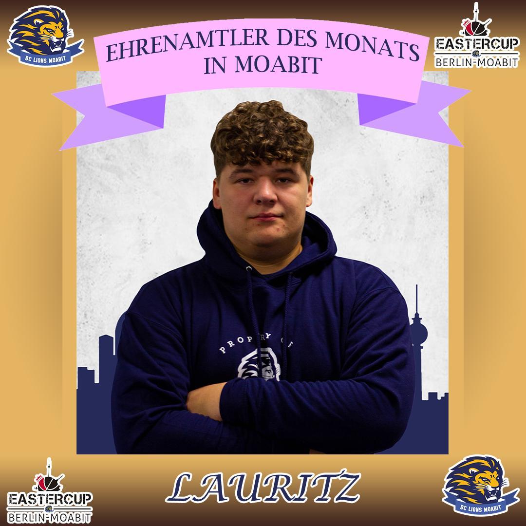Ehrenamtler des Monats in Moabit Lauritz