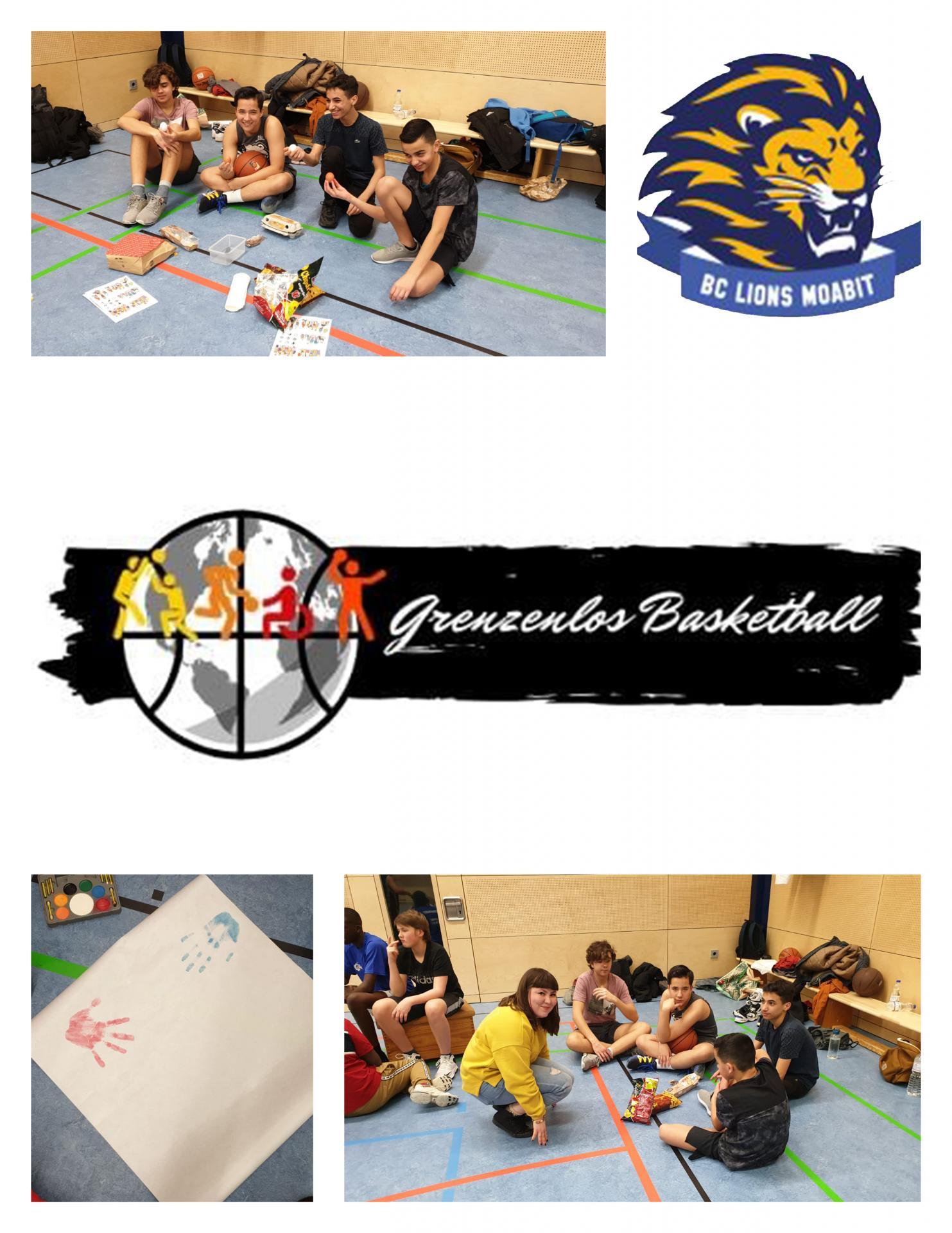 Grenzenlos Basketball Collage